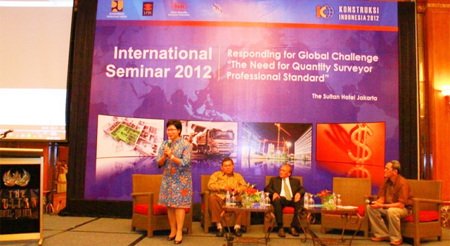 "Moderator for International Joint Seminar  ""The Need for Quantity Surveyor Professional Standard"""