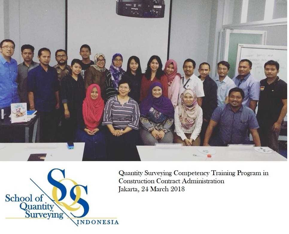 QS COMPETENCY TRAINING PROGRAM In CONTRACT ADMINISTRATION